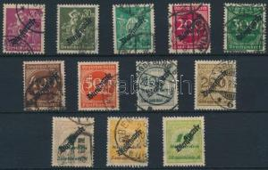 Germany stamp Official set without 2 closing values Used 1923 Mi 75-86 WS233532