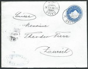 EGYPT 1897 1p envelope used Cairo to Switzerland...........................45819