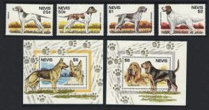 Nevis Dogs 4v+MS SG#879=MS892