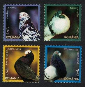 Romania Domestic Pigeons 4v SG#6586-6589 CV£8.4