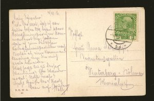 Austria 113 on Postmarked 1916 Wien Postcard Used