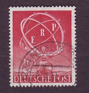 J23179 JLstamps 1950 berlin germany set of 1 used #9n68 staue of atlas