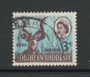 Southern Rhodesia, Scott 98 var (SG 95 var), used Malformed E (R. 16/10)