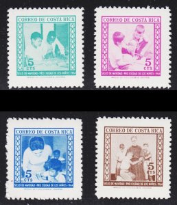 Costa Rica Scott RA20-23 complete set F to VF mint OG NH.