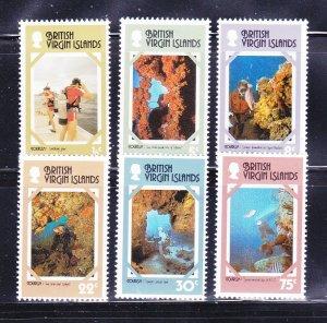 Virgin Islands 327-332 Set MNH Tourism