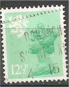 GREAT BRITAIN, SCOTLAND, 1971, used 12 1/2p, MACHINS  Scott SMH20