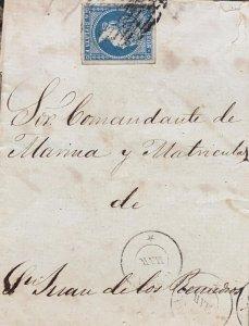 O) 1855 CIRCA, CUBA - CARIBBEAN, SPANISH ANTILLES, QUEEN ISABELLA II SCT 1