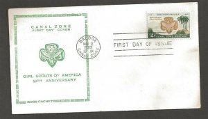 1962 Canal Zone 156 Girl Scouts FDC - Ross Craft