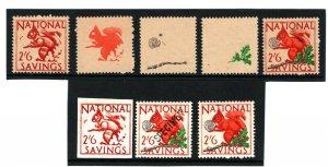 GB REVENUES National Savings Group{8} 2s/6 PROOF SPECIMEN 1949 SQUIRREL NUT 1377