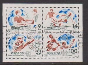 SPAIN S/S #2295 1982 WORLD CUP STAMPS USED  LOT#471