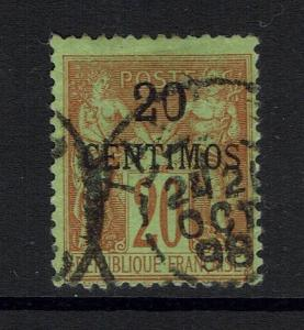 French Morocco - SC# 4 - Used (Small Shallow Thin) - Lot 040917