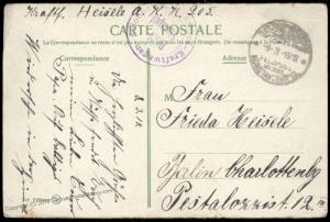 Germany WWI 1918 Constantinople Turkey Military Mission Cover Feldpost 82739