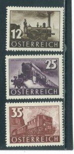 Austria 385-7  MNH cgs