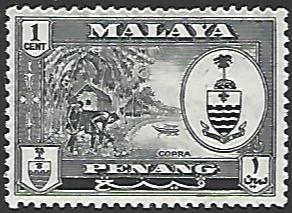 Malaya Penang #56 Mint Hinged Single Stamp