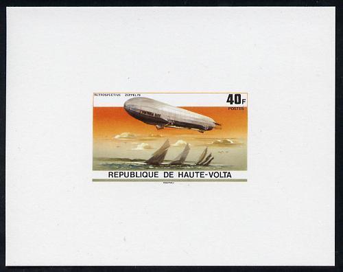 Upper Volta 1976 Zeppelin Airships 40f imperf deluxe proo...