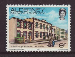 1983 Alderney 9p U/M SGA3