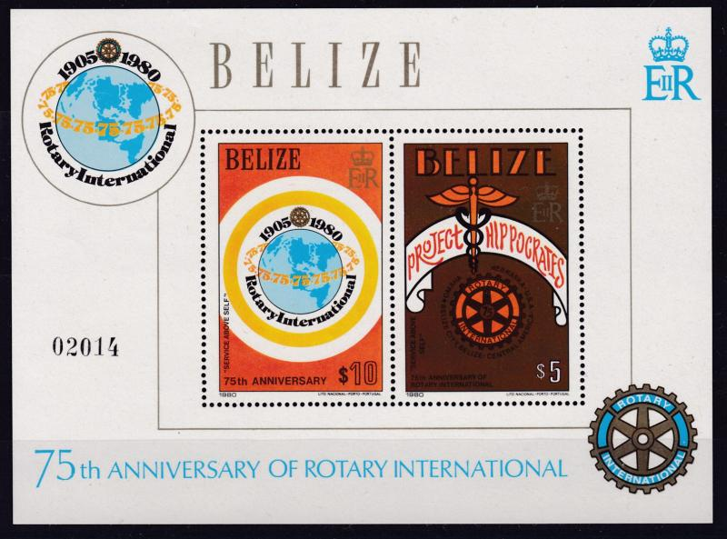 Belize 1979 Rotary International Complete Stamps + Two Sheetlets  VF/NH