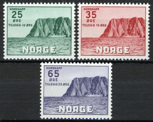 Norway 1957, Nordkapp V set VF MNH, NK 445-447, Mi 408-410 cat 17€