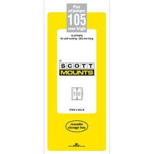 Scott/Prinz Pre-Cut Strips 265mm Long Stamp Mounts 265x105 #954 Clear