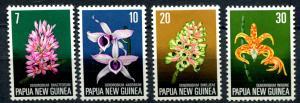 Papua New Guinea SC# 402-5 Orchids 7c 10c 20c 30c M-no gum