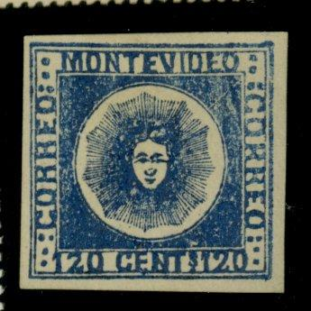 Uruguay #4 MINT F-VF No Gum Cat$550
