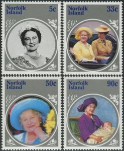 Norfolk Island 1985 SG364-367 Queen Mother set MNH