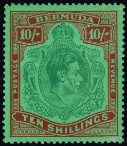 Bermuda #126 var King George VI; Unused (1Stars)