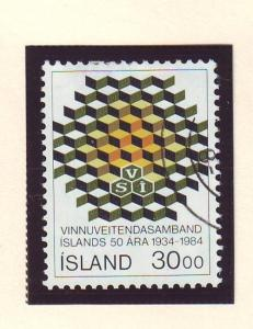 Iceland Sc 599 1984 Employer's Confederation stamp used