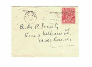 APH1424) Australia 1930 2d Red KGV Die II Small Cover