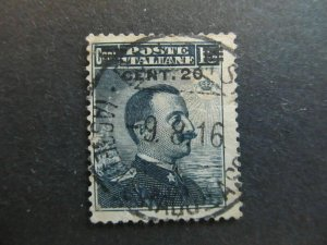 A4P26F43 Libia 1916 20c on 15c usato