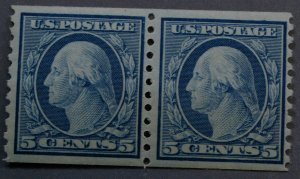 United States #496 5 Cent Washington Coil Pair MNH