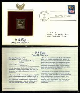 United States 1987 PCS FDC w/ 22 kt gold replica Scott# 2276