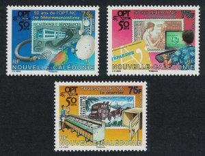 New Caledonia 50th Anniversary of OPT 3v SG#1446-1448 MI#1473-1475 CV£10+
