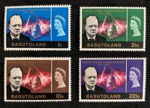 Basutoland # 105-108 (1966) Unused Churchill Memorial Issue