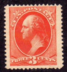 MALACK 214 VF+ JUMBO OG H, large stamp, HUGE! w5307