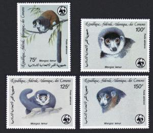 Comoro Is. WWF Mongoose Lemur 4v SG#613-616 SC#C171-C174 MI#792-795