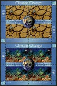UNITED NATIONS Sc# NY 968-9 GE 492-3 VI 434-5  2008 Climate Change MNH
