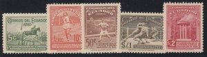 Ecuador - 1939 - SC C65-69 - LH - Complete set
