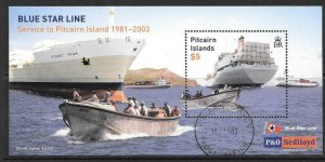 PITCAIRN ISLANDS SGMS636 2003 BLUE STAR LINE FINE USED