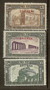 Eritrea, Scott #'s B29-B31, Overprinted Italy Issues, MNH