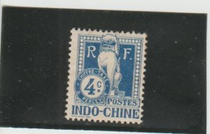 Indo-China  Scott#  J6  MH  (1908 Postage Due)