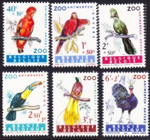 Belgium #B712-17 cpl set MNH birds
