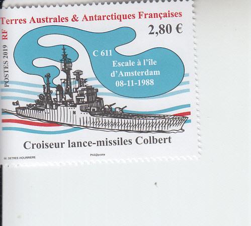 2019 FSAT Fr Antarctic Colbert Missile Cruiser (Scott NA) MNH