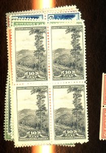 740-9 MINT Blocks F-VF OG NH Cat $64