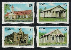Nevis Christmas Churches of Nevis 2nd series 4v SPECIMEN 1986 MNH SG#462-465