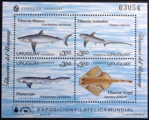 1996 Uruguay 2200-2203/B75 Sea fauna 8,50 €