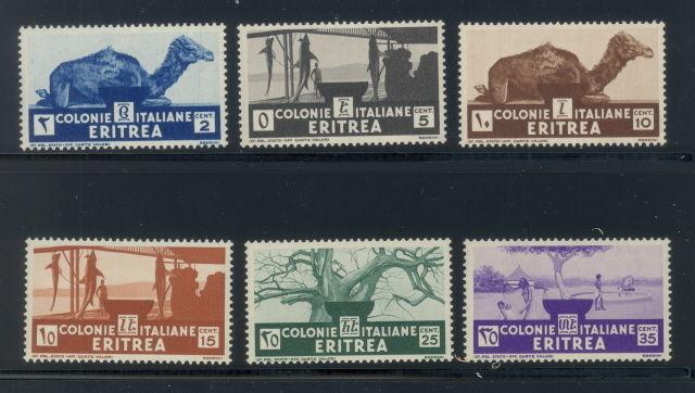Eritrea 158 to 163 mnh (161 mh) stamps