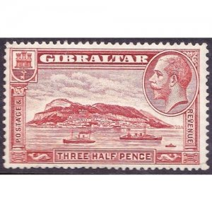 GIBRALTAR 1931 KGV 1.5d Red Brown SG111a MNH