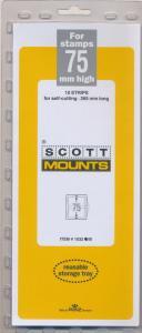 Prinz Scott Stamp Mount 75/265 mm - BLACK (Pack of 10) (75x265 75mm)  STRIP