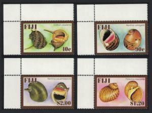 Fiji Freshwater Snails 4v Top Left Corners SG#1363-1366